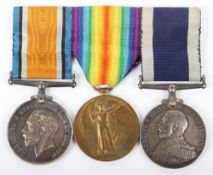British Submariners Long Service Medal Trio
