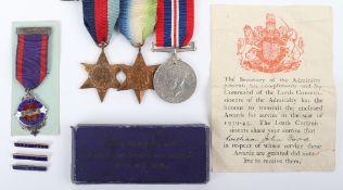 British Royal Navy HMS Royal Oak 14th October 1939 Killed in Action Medal Group
