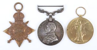 Great War George V Military Medal (M.M) Group of Three Devonshire Regiment, Killed in Action 1st Day