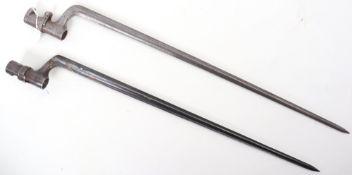 2x European Military Socket Bayonets