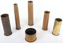 Three WW1 German Brass Shell Cases