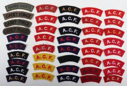 Selection of Army Cadet Force Cloth Shoulder Titles