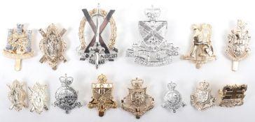 10x Anodised Aluminium OTC Schools Cap Badges