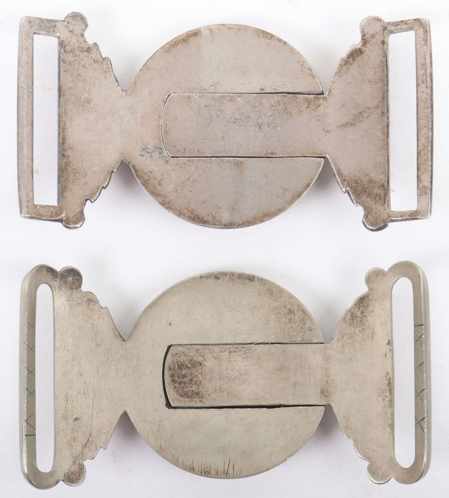 2x Victorian Levee Pattern Sword Waist Belt Buckles - Image 2 of 2
