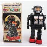 Vintage 1970s HK toys Battery operated super moon explorer Plastic robot