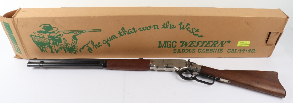 "MGC replica (Japan) model Winchester 1873 ""saddle carbine"" boxed"