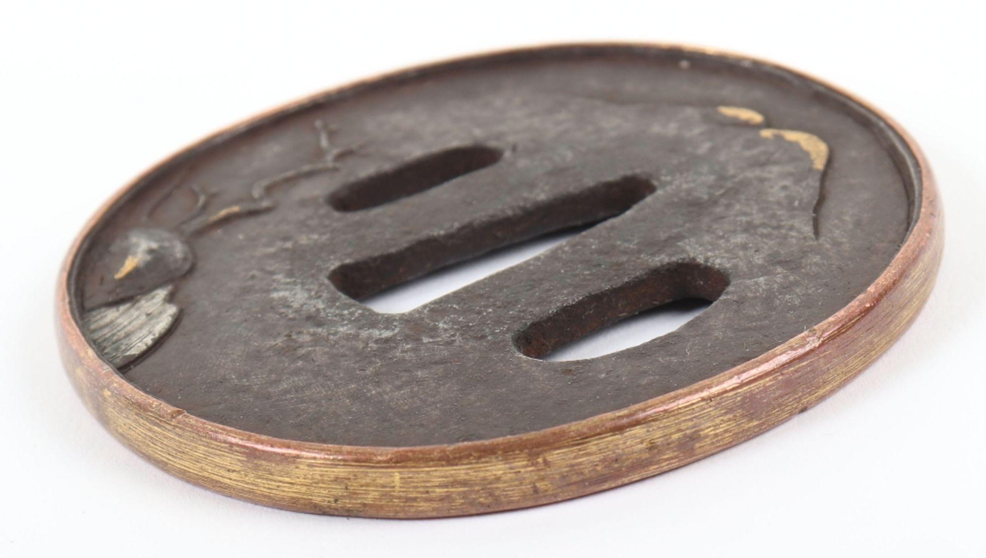 Japanese Oval Iron Edo Tsuba, 19th Century - Image 8 of 8