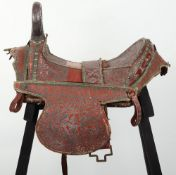 Fine and Scarce North Indian Saddle, Probably Late 19thor Early 20thCentury