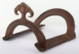 Indian Wooden Saddle Tree with Iron Fittings, Probably 18thor 19thCentury