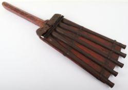 Rare Indian 5 Barrelled Matchlock Rampart Gun of 'Duck's Foot' Type