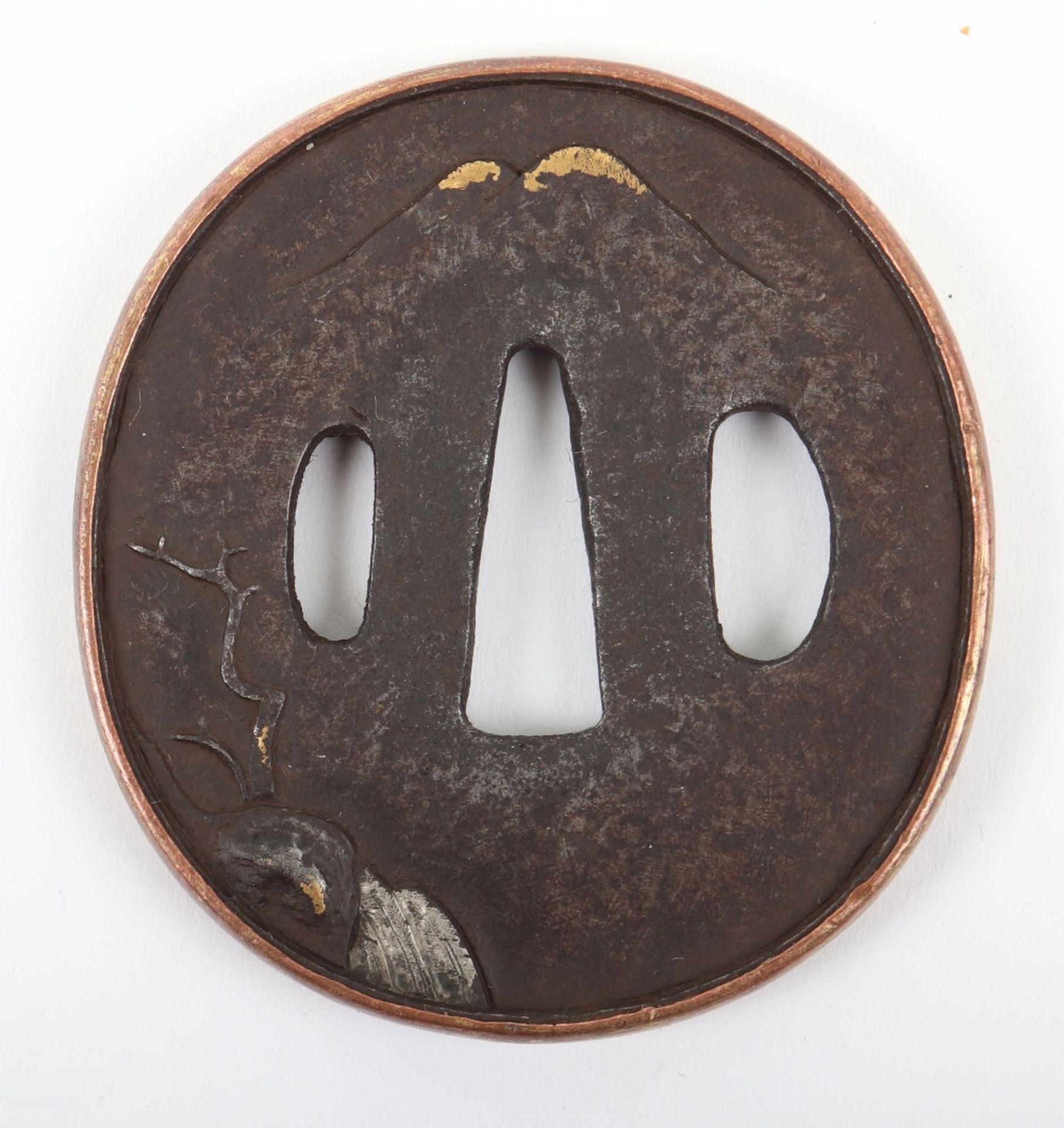 Japanese Oval Iron Edo Tsuba, 19th Century - Image 2 of 8