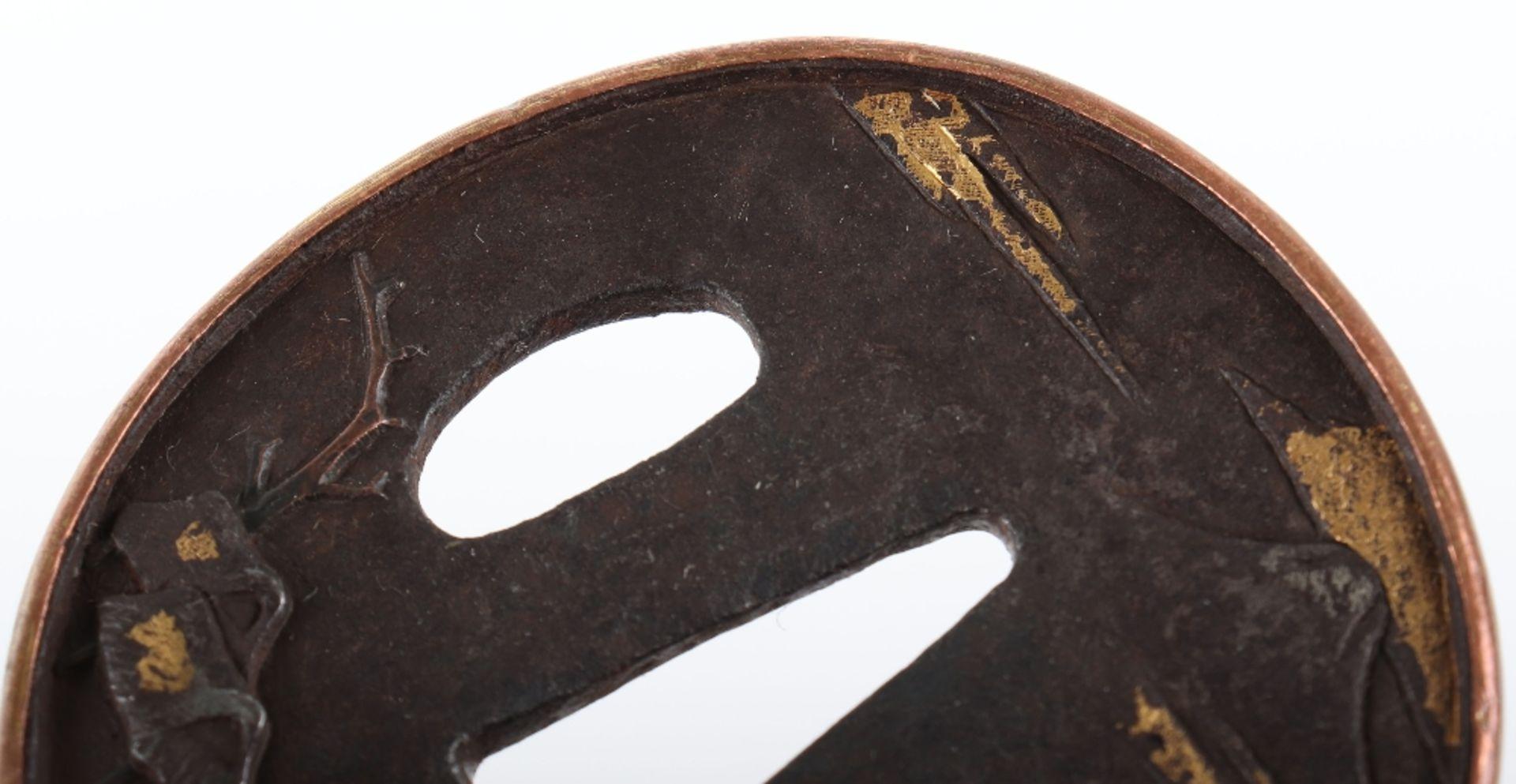 Japanese Oval Iron Edo Tsuba, 19th Century - Image 4 of 8