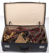 Suitcase Containing Assorted and Elaborate Indian Horse Trappings