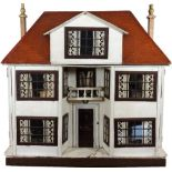 A large and impressive Lines Bros Triang painted wooden dolls house, English 1920s,