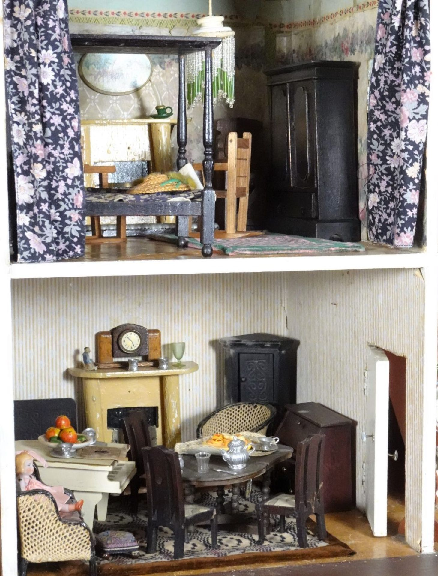 A large and impressive Lines Bros Triang painted wooden dolls house, English 1920s, - Image 5 of 6