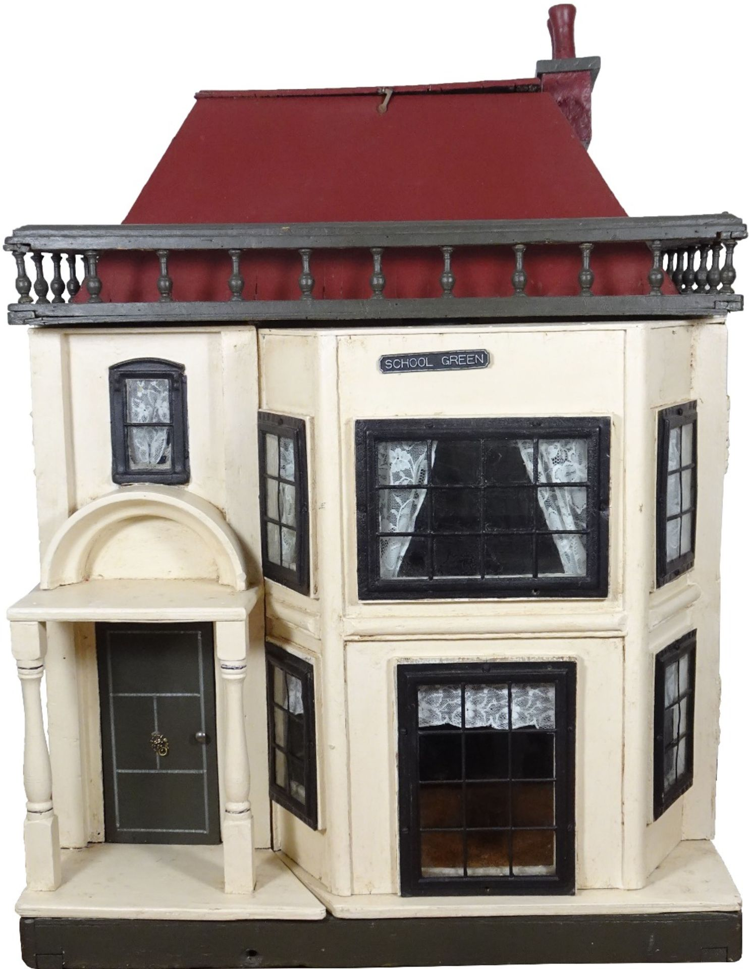 A G & J Lines painted wooden dolls house, circa 1910,
