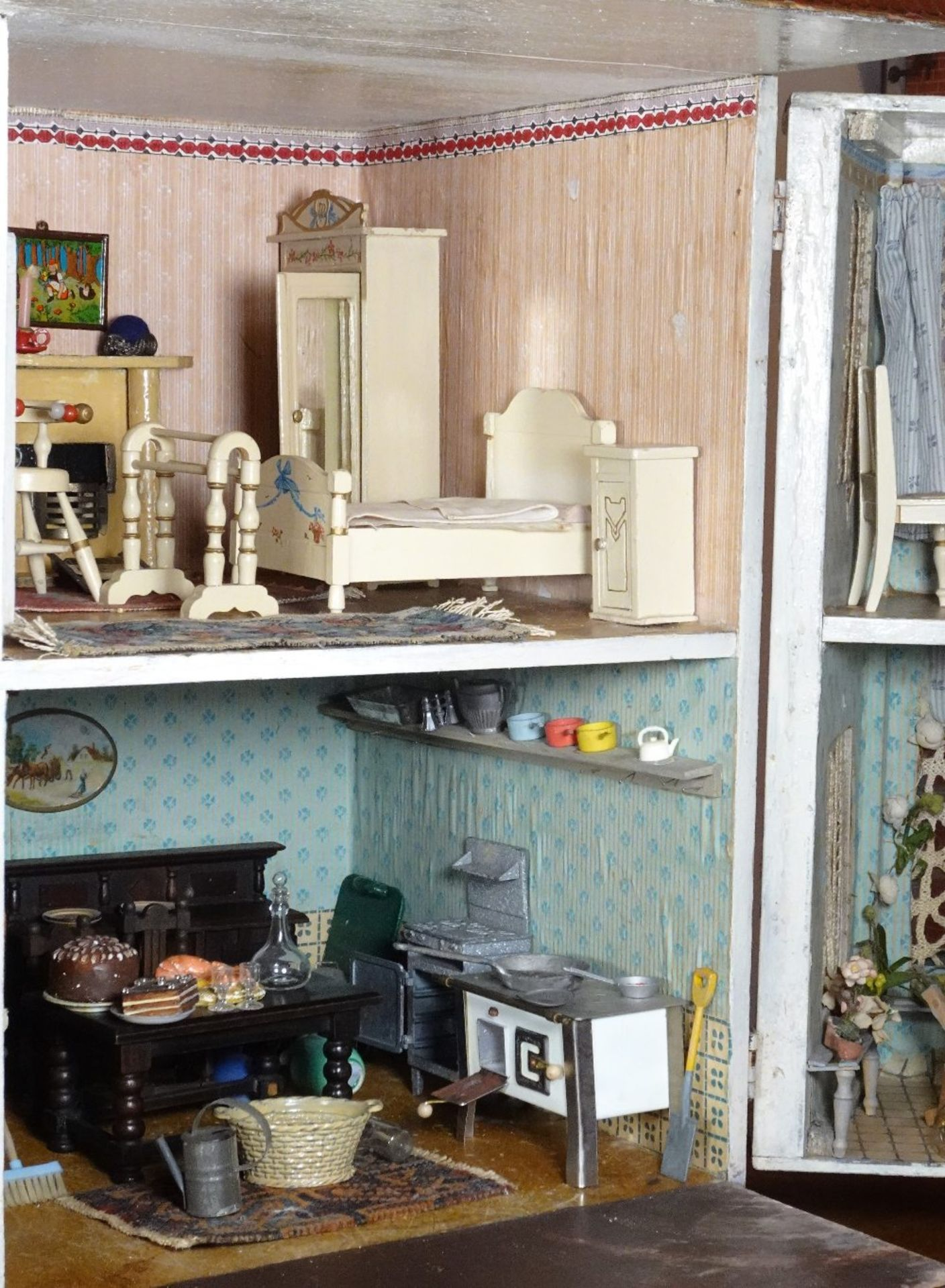 A large and impressive Lines Bros Triang painted wooden dolls house, English 1920s, - Image 6 of 6