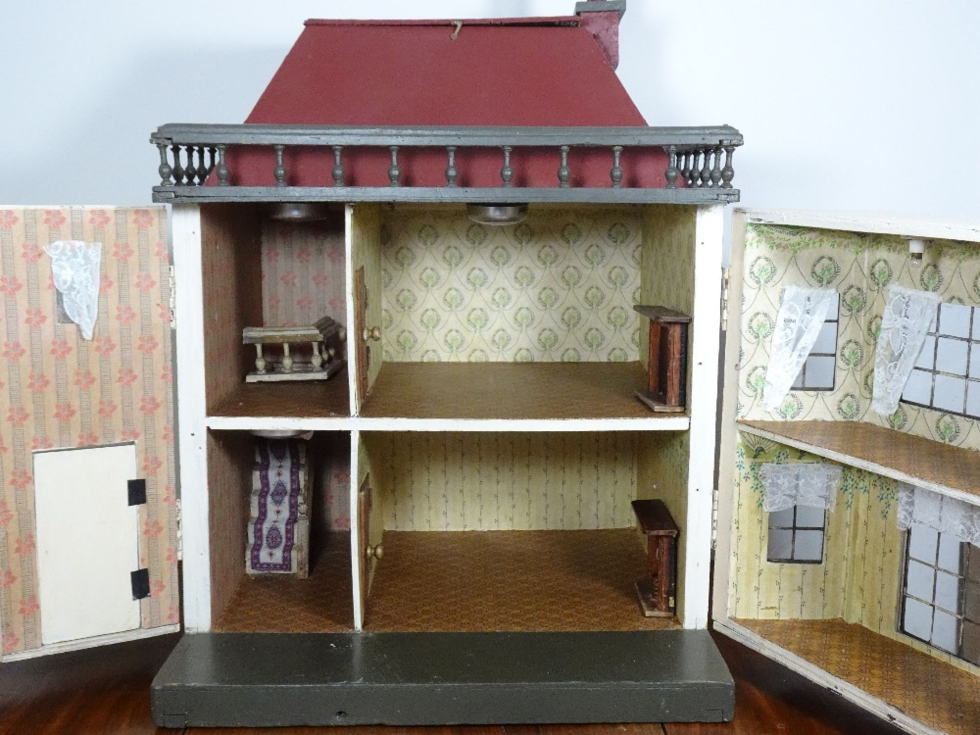 A G & J Lines painted wooden dolls house, circa 1910, - Image 2 of 2