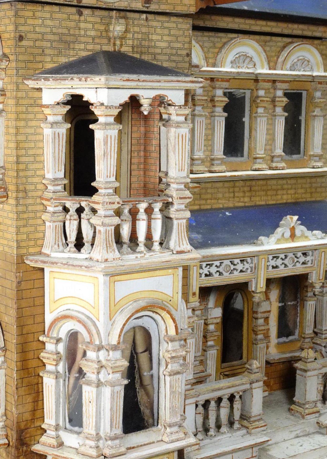 A large and impressive Moritz Gottschalk blue roof dolls house model: 2556/2 in original condition, - Image 6 of 13