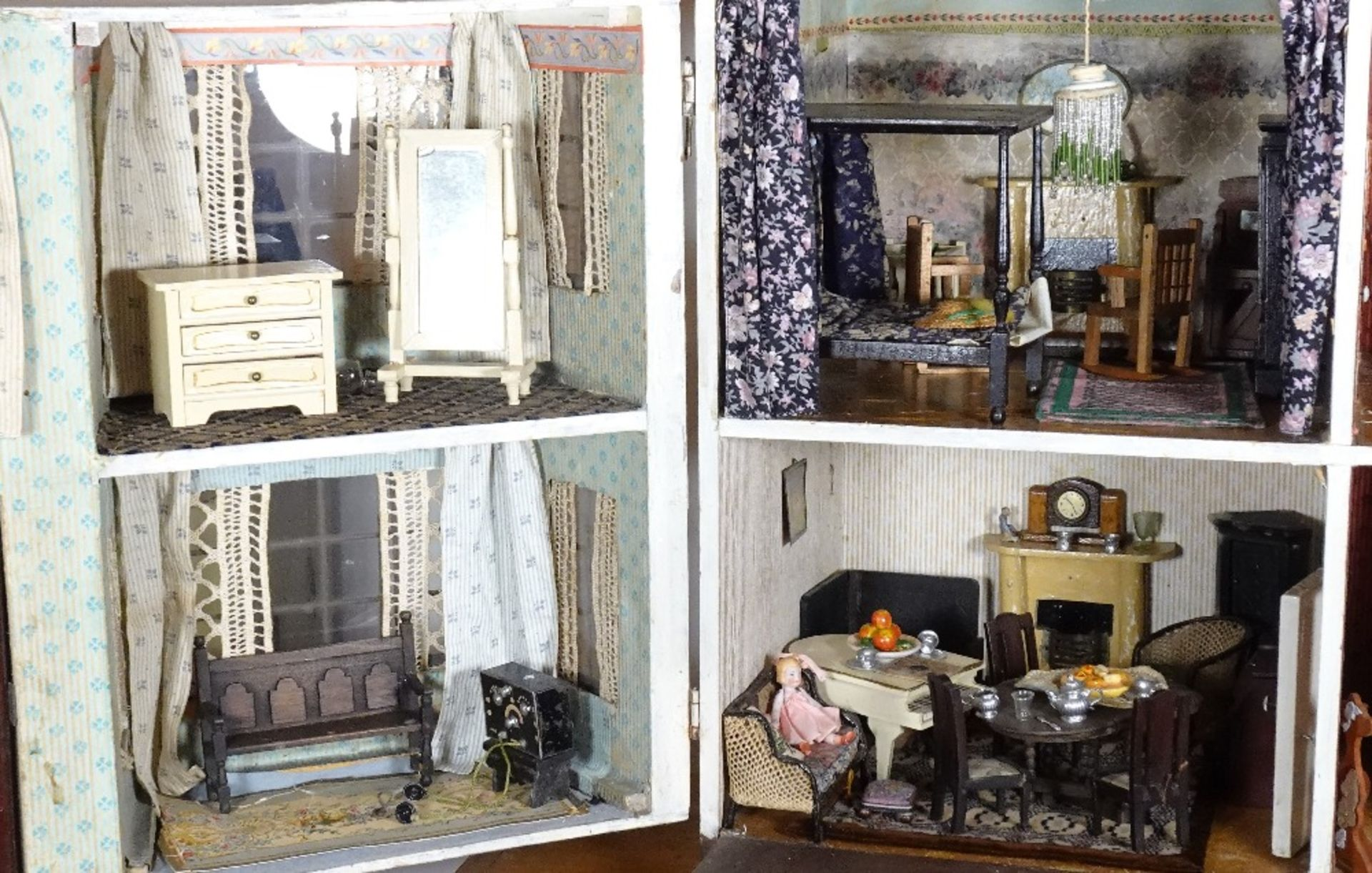 A large and impressive Lines Bros Triang painted wooden dolls house, English 1920s, - Image 4 of 6