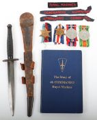 WW2 British Fairbairn Sykes (F.S) Commando Knife Grouping Attributed to Corporal A V Fry 46 Commando