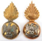 2x Royal Irish Fusiliers Officers Fur Cap Grenades