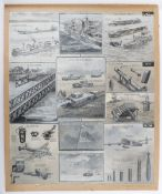 Original Artwork by G.H.Davis Mix of Images including Magnetic mines and counter measures
