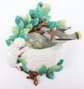 A 19th century Dresden Porcelain pottery group, circa 1870, 'crowned R mark'