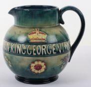 A Moorcroft George VI Queen Elizabeth 1937 Coronation jug