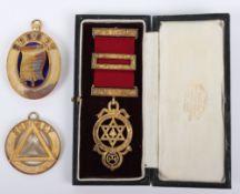 A silver masonic medal 'deo reci fratribus honor fidelitas benevolentia