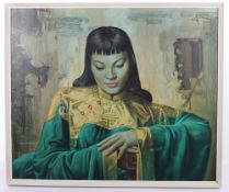 After Tretchikoff (1913-2006), Oriental girl, print