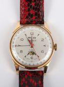 A vintage Pierce triple calendar moon phase gentleman's wristwatch