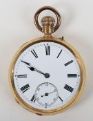 A French 18ct gold pocket watch (af)