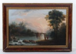 Circle of Richard Wilson R.A., 19th century oil on canvas
