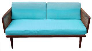 Peter Hvidt & Orla Molgaard-Nielson, for France & Daverkosen, FD451, Danish teak two seater sofa / d