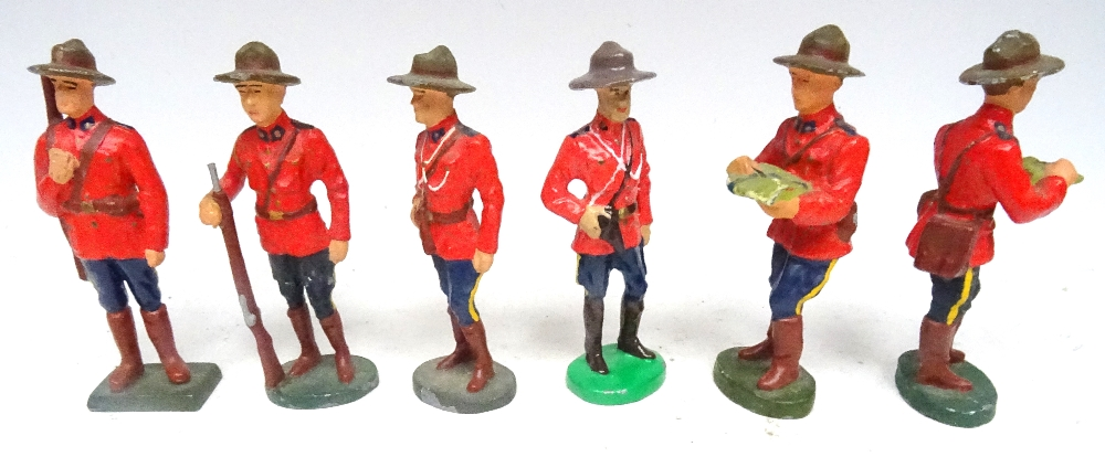 RCMP figures in solid metal, 65 to 75mm scale - Image 5 of 6