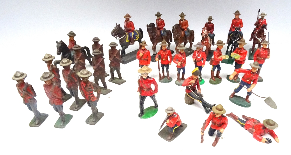 RCMP figures in solid metal, 65 to 75mm scale