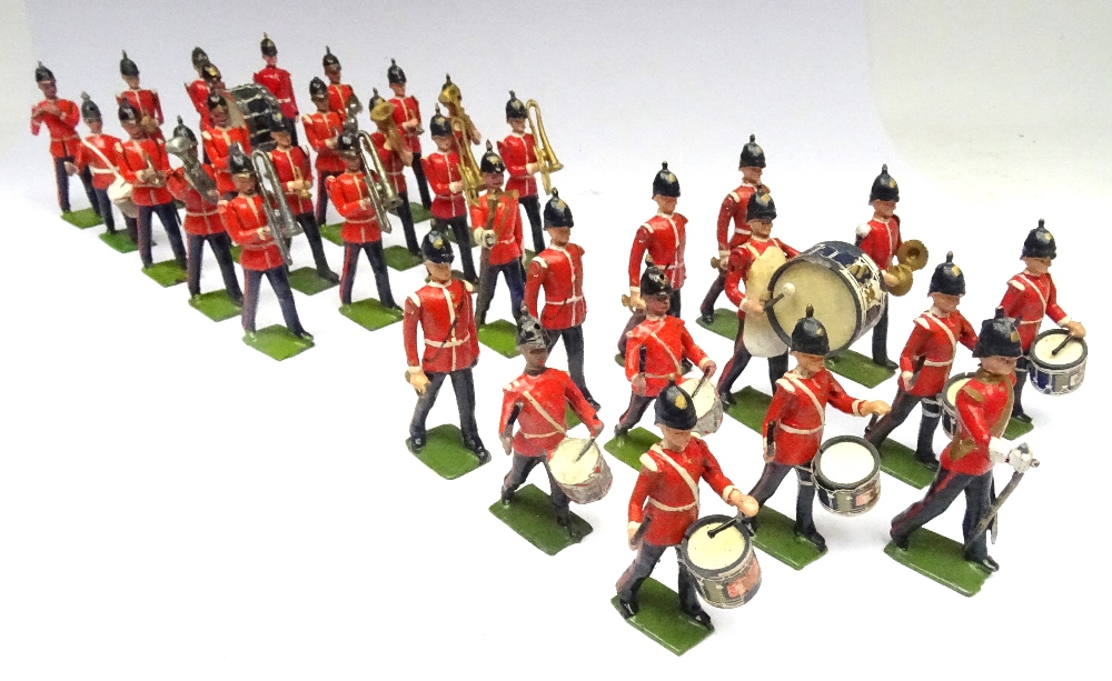 Britains from sets 27 and 30, Drums, Bugles and Band of the Line