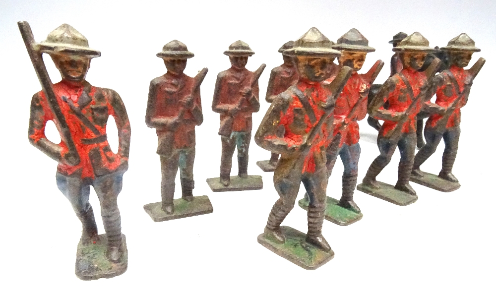 RCMP figures in solid metal, 65 to 75mm scale - Image 2 of 6