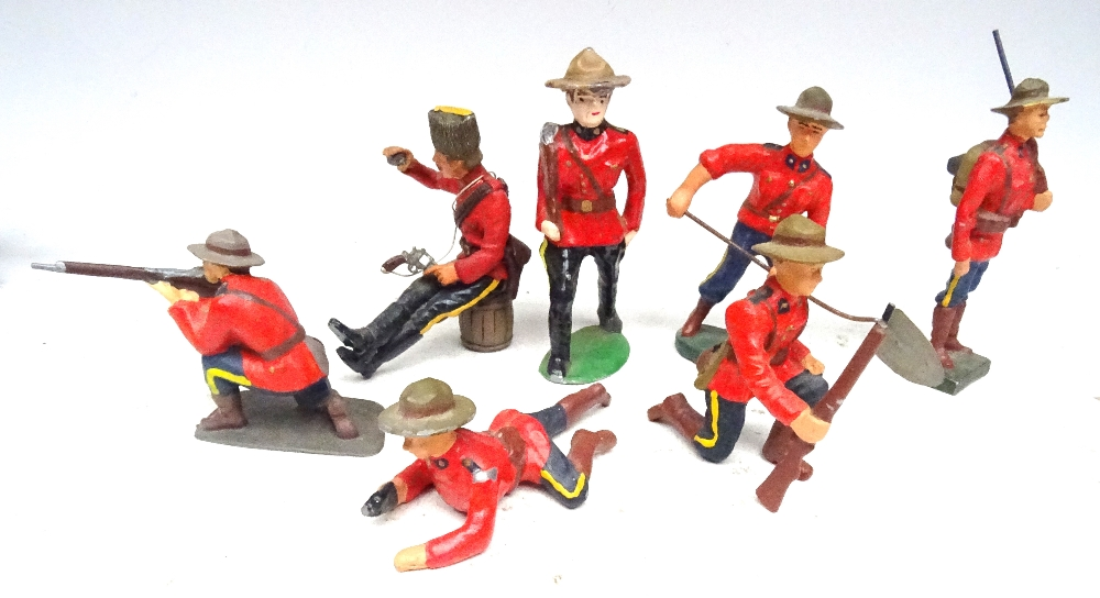 RCMP figures in solid metal, 65 to 75mm scale - Image 6 of 6