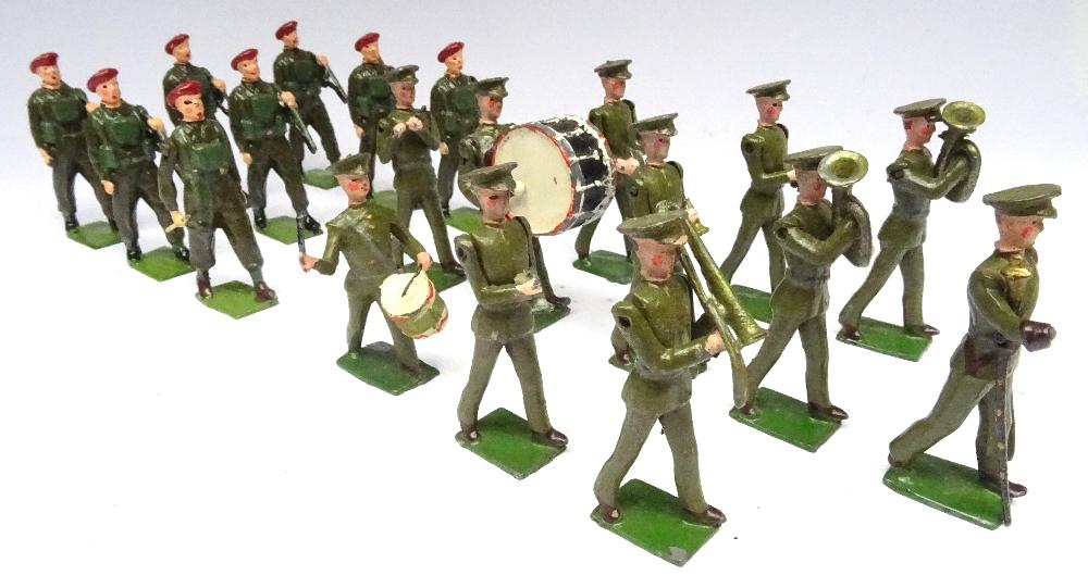 Britains set 1290, British Infantry Band - Image 5 of 9