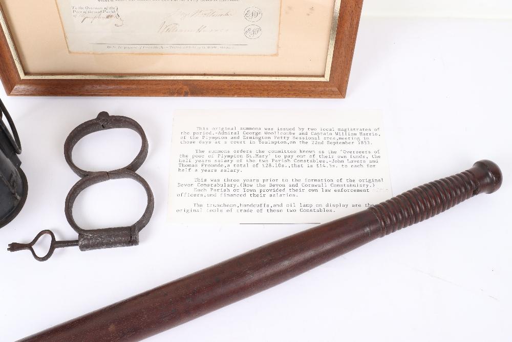 Original 1853 Ermington and Plympton Devon Magistrates Summons - Image 2 of 5