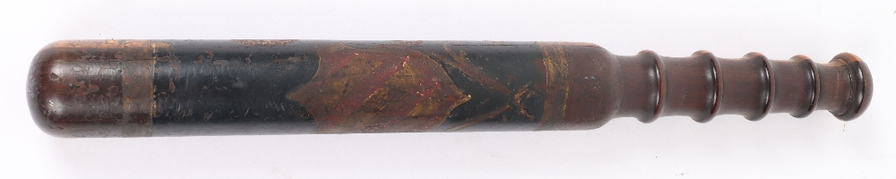 Early Victorian Painted Police Truncheon - Image 4 of 4