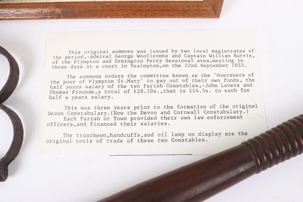 Original 1853 Ermington and Plympton Devon Magistrates Summons - Image 5 of 5