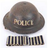 WW2 British Police Officers Steel Helmet