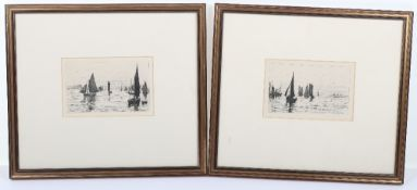 George Stratton Ferrier (1852-1912) a pair of etchings
