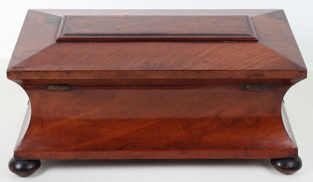 A 19th century mahogany casket tea caddy - Image 13 of 14