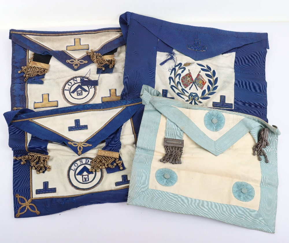 A leather suitcase of Masonic regalia - Image 6 of 7