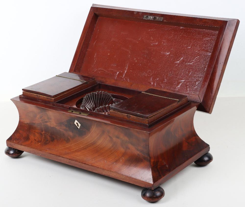A 19th century mahogany casket tea caddy - Image 2 of 14