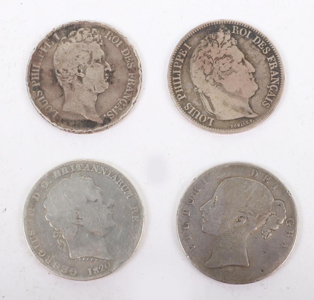 George III Crown 1820, Victoria Crown 1845 - Image 2 of 3
